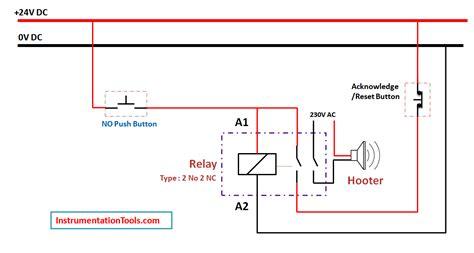Relay Latching Circuit Using Push Button Instrumentation Tools