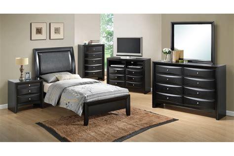 bedroom sets lauran black twin size bedroom set