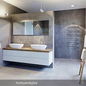 Moderne Waschbecken Bad : die besten 25 beton badezimmer ideen auf pinterest beton dusche badezimmerwaschtische und ~ Markanthonyermac.com Haus und Dekorationen