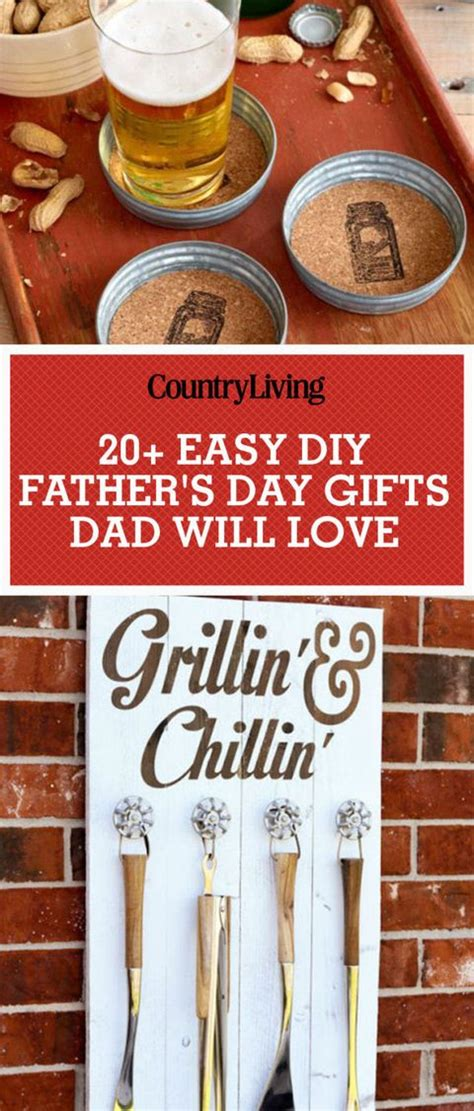diy fathers day gifts homemade craft ideas  father