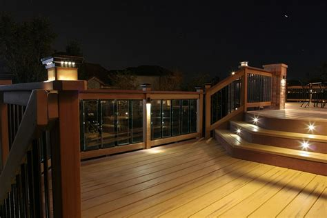 Home Depot Deck Rail Lighting by Deck Lighting Ideas To Get Warm And Cozy