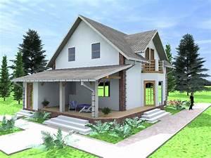 Model De Casa Mica Cu Mansarda 2 017 Proiecte De Case ...
