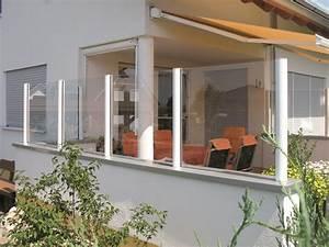 Möbel Für Die Terrasse : windschutz terrasse glas beweglich das beste aus ~ Michelbontemps.com Haus und Dekorationen
