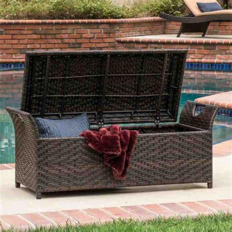 wicker storage bench outdoor wicker storage bench home furniture design