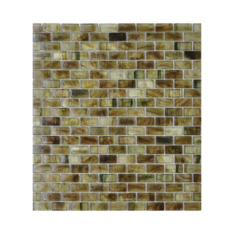 american olean glass tile backsplash shop american olean visionaire summer brick mosaic
