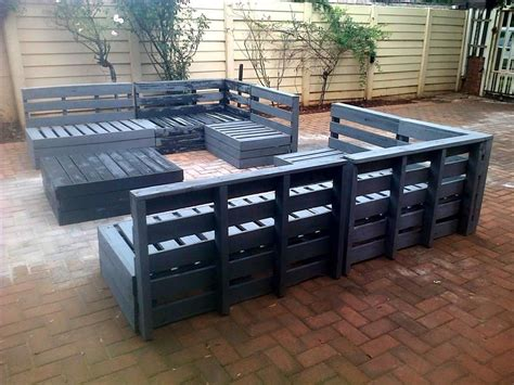 pallet outdoor furniture plans pallet projects pallet