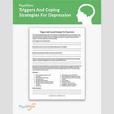 Triggers And Coping Strategies For Depression Worksheet Psychpoint
