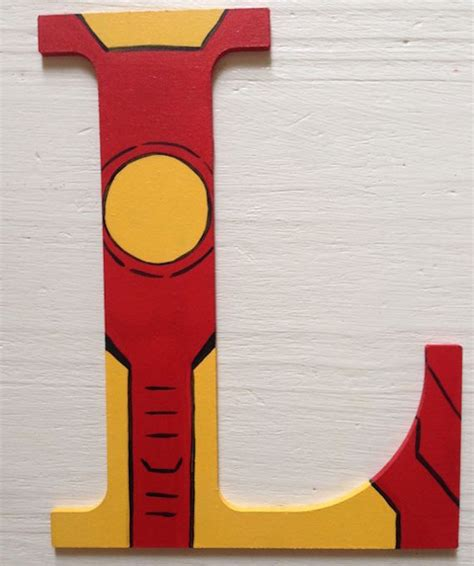 ironman superhero wooden letter wall decor painting