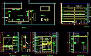 Dressing Room with Gym 2D DWG Detail for AutoCAD • Designs CAD