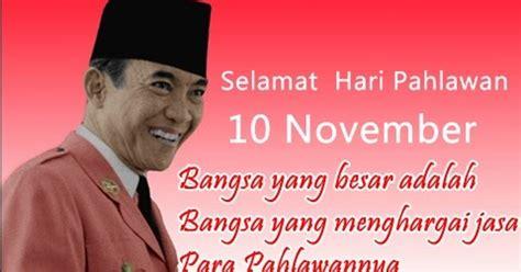 kata kata ucapan selamat hari pahlawan  november terbaru