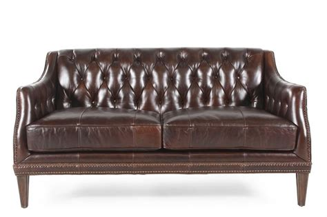 How To Clean A Leather Settee by Two Brown Leather Loveseats Home Decorating Leather