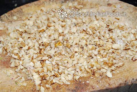 finely chopped nuts sheer pira sweet walnut barfi how to make step by step photos