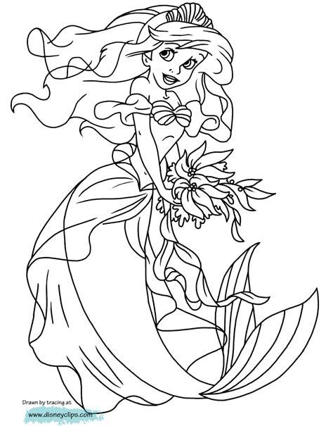 Coloring Worksheets : Little Mermaid Ariel Pages Disney