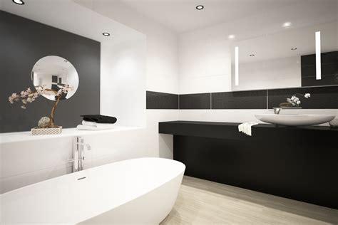 bano moderno blanco  negro fotos   te inspires