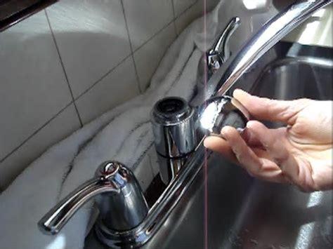 handle kitchen faucet repair moen youtube