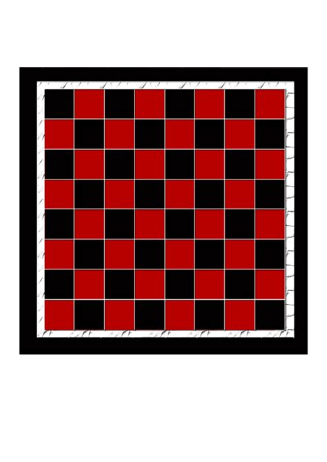 checkerboard template printable