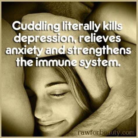 cuddling literally kills depression  relieves stress