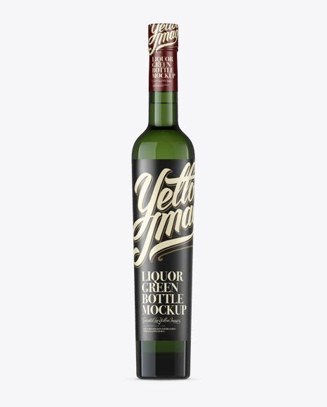 This beauty bottle mockup is perfect to display your makeup brand, don't you think? Green Glass Liquor Bottle Mockup FrontView Download Green ...