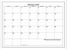 Kalender Oktober 2019 SS Michel Zbinden DE