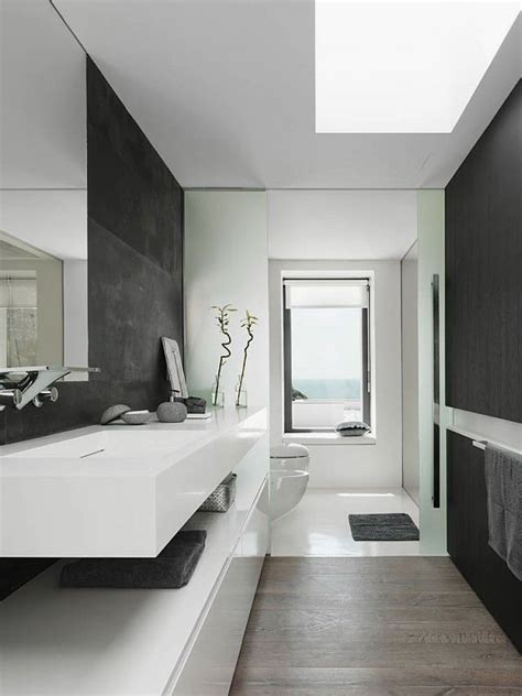 pictures  black white bathrooms modern minimalist black  white bathroom design