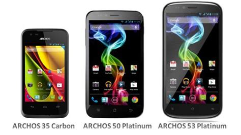 what was the smartphone archos launches android smartphone line