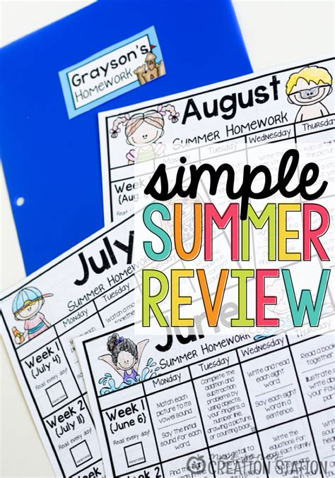 Simple Summer Review  Mrs Jones' Creation Station