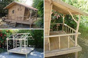 Construire Un Lit Cabane : exemples de cabane pour enfants les 7 nains diy gazebo shed cabin et cubby houses ~ Melissatoandfro.com Idées de Décoration