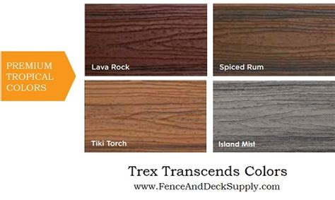 Trex Transcend Decking Colors by Trex Composite Decking National Decking Supply