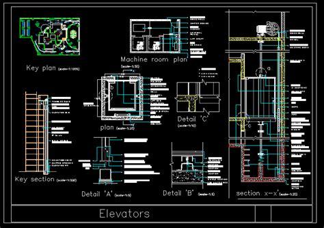 elevator construction details  autocad cad  kb