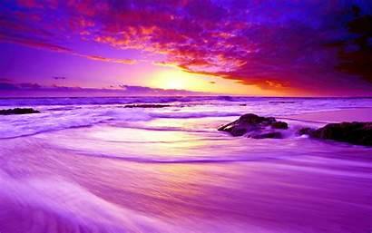 Sunset Purple Beach 4k Wallpapers Widescreen