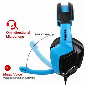 Sades Gaming Headset Stereo Headphone 3 5mm Wired W  Mic