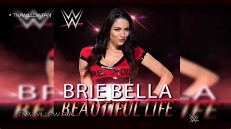 wwe brie bella   theme song beautiful life
