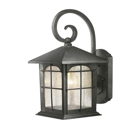 Backyard Lighting Home Depot by Hton Bay 1 Light Aged Iron Outdoor Wall Lantern Y37029