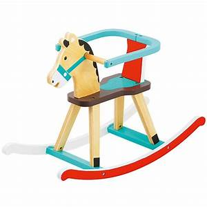 Cheval En Bois à Bascule : cheval bascule en bois porteurs et pousseurs premier ~ Teatrodelosmanantiales.com Idées de Décoration