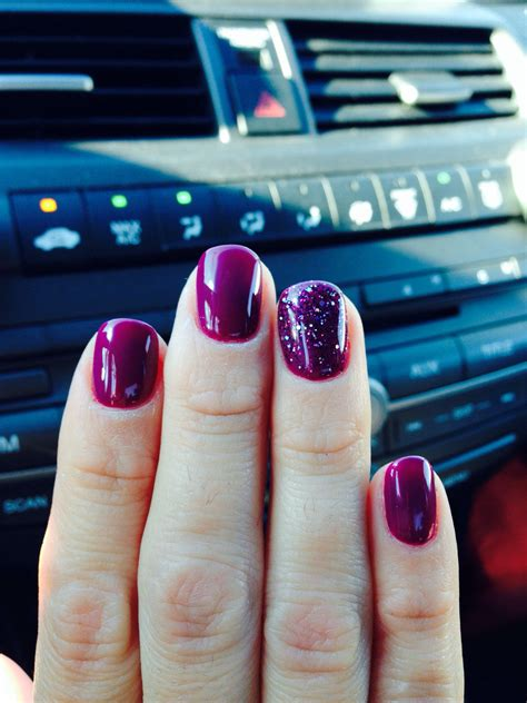 plum gel polish winter fall color love nail color