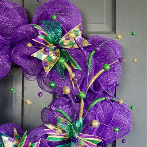 "25"" Ball Glitter Tubing Mardi Gras Spray Purple, Green"