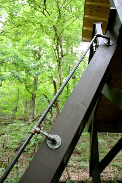 plumbing pipe handrail this is how i want to do our stair railing diy decor 1556