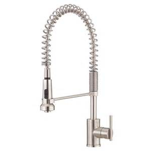 pre rinse kitchen faucets shop danze parma stainless steel 1 handle pre rinse kitchen faucet at lowes com