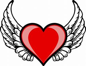 Easy Drawings Of Hearts With Wings - ClipArt Best