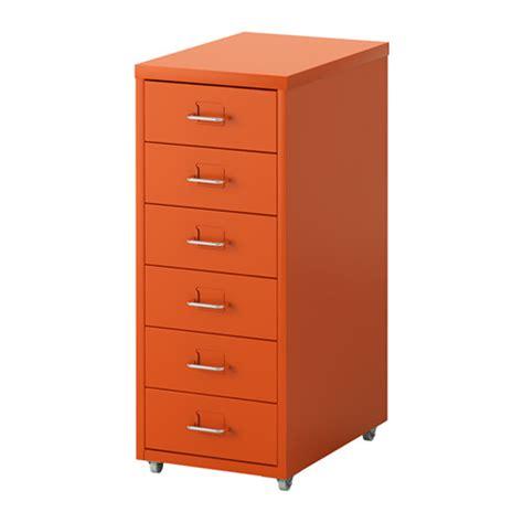 helmer caisson tiroirs 224 roulettes orange ikea