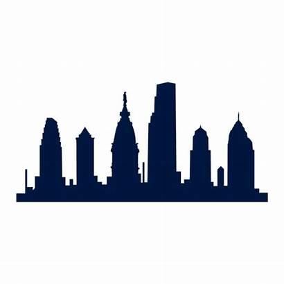 Skyline Philadelphia Silhouette Transparent Svg Vector Outline