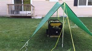 Diy Portable Generator Shed by Portable Generator Tarp Shelter Youtube