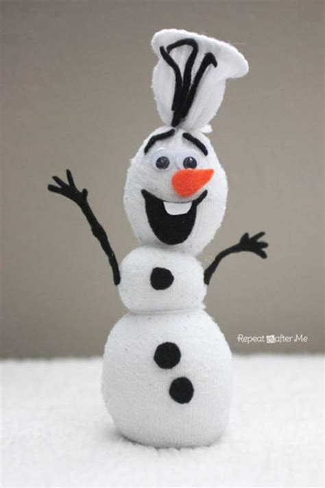 creative ideas diy disney frozen olaf sock snowman