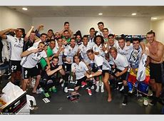 Real Madrid head straight home to celebrate La Liga title