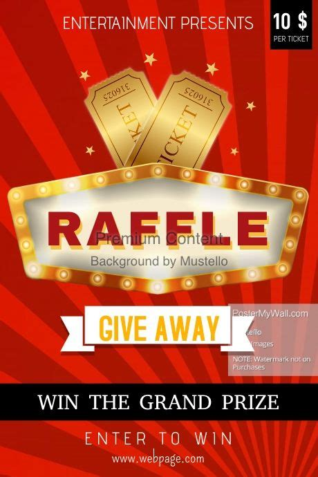 find design templates  raffle contest easy  customize   print  purchase high