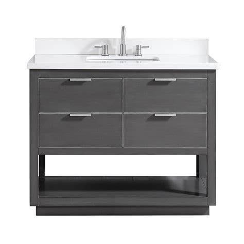 avanity allie        bath vanity  gray