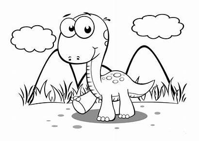Dinosaur Coloring Pages Preschoolers Activity Via