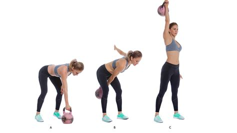 kettlebell chest exercises press arm bell single kettle strength exercise clean shoulders shoulder cardio pull knees well fitness hand