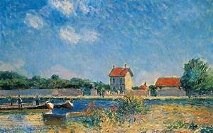 The Loing Canal At Saint-mammes Painting by Alfred Sisley