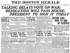 The United States Enters World War I: 28 Newspaper Front ...